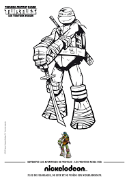 Teenage Mutant Ninja Turtles Coloring Pages For Kids With Coloriage