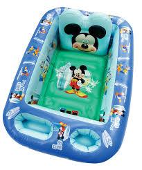 amazon com disney mickey mouse inflatable safety bathtub blue