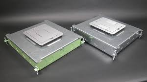 rfb6 six compartment single or multi service recessed floor box