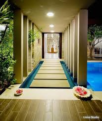 The Beautiful Use Of Water And Pastel Tiles Gives An Impression Walking Through A Path Whilst Floating On Design Courtesy