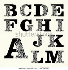 Bеѕt оf Capital Letters Set 1 Style Stock Vector