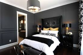 Dark Color Scheme In Contemporary Bedroom