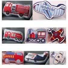 100 Kids Truck Bed Cartoon Fire Train Fighter Plane Shape Cushion Pillow