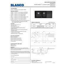 Blanco Sink Strainer Waste by Blanco 440410 Precis White Undermount Double Bowl Kitchen Sinks