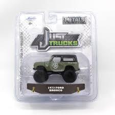 100 Just Trucks Amazoncom Jada Green Army 1973 Ford Bronco Metals Die
