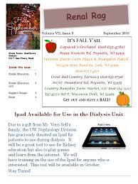 Lodi Pumpkin Patch Wisconsin by Dialysis Newsletter September 2016 Lemon Food U0026 Wine