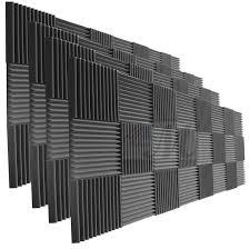 12 X 12 Foam Ceiling Tiles by Amazon Com 96 Pack Acoustic Panels Studio Foam Wedges 1