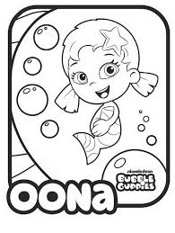 9 Bubble Guppies Coloring Pages Oona 7090 Via Azcoloring