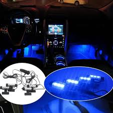 2018 Car Led Interior Decoration Under Dash Floor Light Strip Throughout Sizing 1000 X