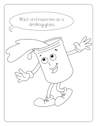 Water Conservation Coloring Page