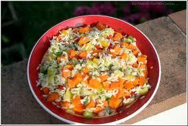 cuisine salade de riz salade de riz aux légumes variés en passant par ma cuisine