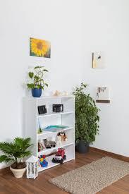regal küchenregal wohnzimmerregal bücherregal 85 cm breit buche holz massiv farbe weiß