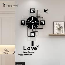 platz still acryl große pendel dekorative schaukel wanduhr modernes design wohnzimmer home dekoration wand uhr aufkleber