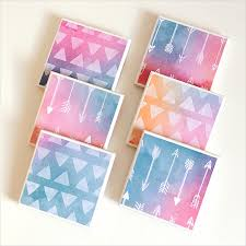 watercolour arrows triangles coasters 6 ceramic tile drink