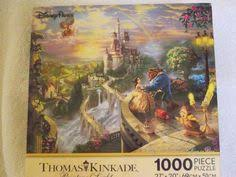 Disney Beauty and the Beast Pure White Jigsaw Puzzle Beginning of