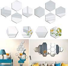 nuluxi acryl spiegel wandaufkleber aufkleber spiegel einstellung sechseckiger spiegel wandaufkleber geometrie design spiegel selbstklebende abnehmbare