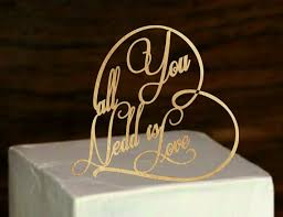 Rustic Wedding Cake Topper All You Need Is Love