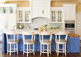 View In Gallery Blue And White Kitchen With A Traditional Design