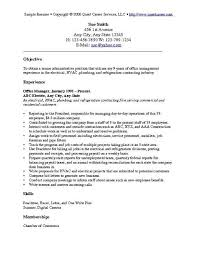 Resume Objective Examples Sample