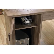 Altra Chadwick Collection L Desk And Hutch by Sauder L Shaped Desk Salt Oak Decorative Desk Decoration