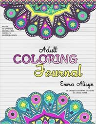Amazon Adult Coloring Journal Lined Paper And Mandalas For Notes Relaxation Journals To Color Volume 1 9780692661222 Emma Alisyn