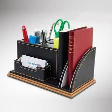 rangement stylo bureau bois multifonction en cuir papeterie stylo télécommande boîte de