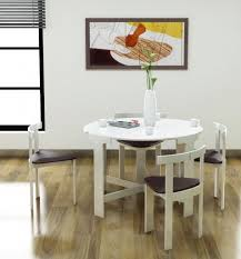 Round Space Saver Dining Table Set Best Gallery Of Tables Furniture ... Space Saving Kitchen Table And Chairs House Design Ipirations Saver Marvellous Classic Ikea Folding Ding Tables Surripuinet Spacesaving 4 Seater Ding Table Set In Blairgowrie Perth And Interior Sets With Next Day Delivery Room Set Value Compact 2 Seater Ideas 42 Inch Round Langford For 7500 Sale Of 3 Rustic Rectangular Benches 5 Pcs Wood W Storage Ottoman Stools Courtyard Costway Piece Dinette