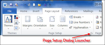 Page Layout Tab Of Ribbon In MS Word 2010