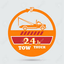 100 Used Tow Truck Emblem Wrecker Icon Round The Clock Evacuation Of