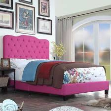 Diva Upholstered Twin Bed Pink by Purple Beds And Bed Frames Ebay