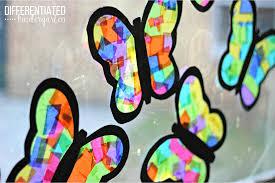 Rainy Day Tissue Paper Butterflies