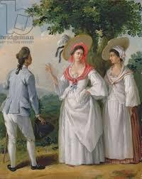 Free West Indian Creoles In Elegant Dress Agostino Brunias C1780 Oil British IndiesWest