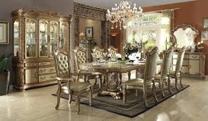 Formal Dining Chairs Room Set In Gold Clearance