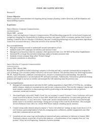 Job Objective Resume Examples