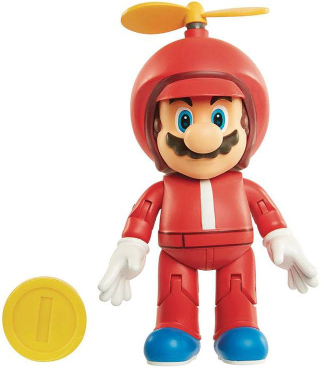 "World of Nintendo Propeller Mario with Coin 4"" Action Figure"