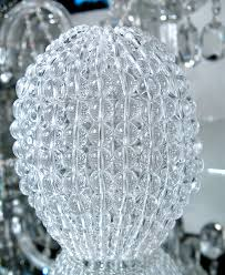 large pressed glass beaded bulb cover pendant l shade