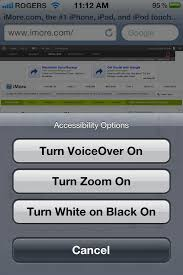 How to select Accessibility options with an iPhone Home button