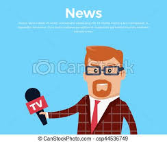 Breaking News Reporter Vector Illustration