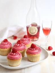 Raspberry Rose Wine Cupcakes