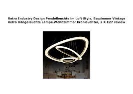 retro industry design pendelleuchte im loft style esszimmer
