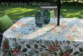 Rectangle Patio Tablecloth With Umbrella Hole by Outdoor Tablecloth Happiness At Home