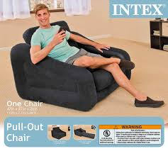 amazon com intex pull out chair inflatable bed 42 x 87 x 26