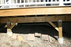 Free Standing Deck Bracing by How Should I Build The Concrete Footings For My Deck Home