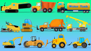 Learn Construction Vehicles | Street Vehicles | Trucks And Heavy ...