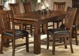 Dark Oak Finish Casual Dining Table W/Optional Chairs