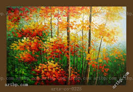Contemporary Palette Knife Landscape Art Oil Painting On Canvas Grove Famous Realistic Paintings Wall Frame Abstract
