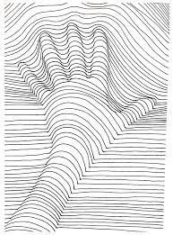 Coloriage Zebre Vasarely