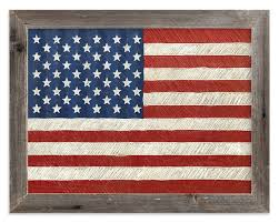 Rustic American Flag Wall Art Prints By Amy Marsh