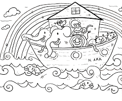 Epic Noahs Ark Coloring Page 94 In Free Kids With