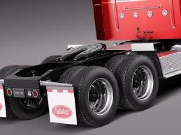 100 Sleeper Cab Truck Peterbilt 389 2015 3D Model MAX OBJ MTL 3DS FBX C4D LWO
